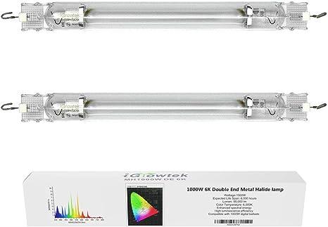 Hydroponic 1000w watt DE MH Metal Halide Grow Light Bulb Double Ended End Lamp