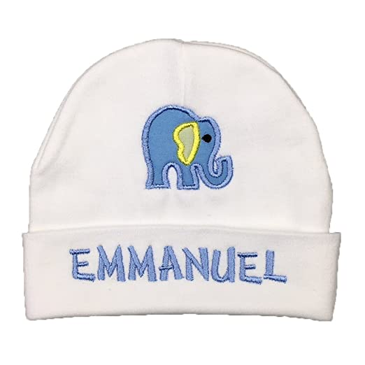 066ffb7c7 Personalized Baby Hat for Baby Girl or Baby boy with Elephant appliqué