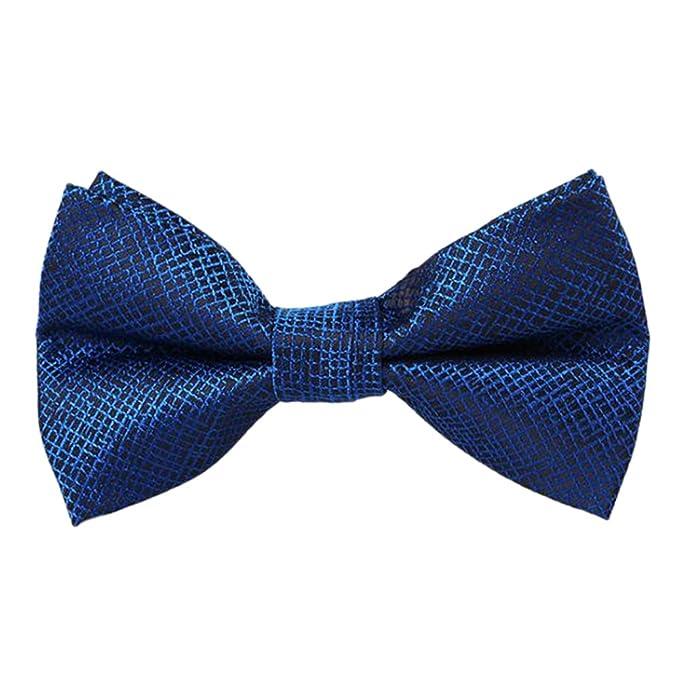 Leisial™ Hombre Pajarita de Boda Fiesta Cuadrícula Corbata de Arco ...