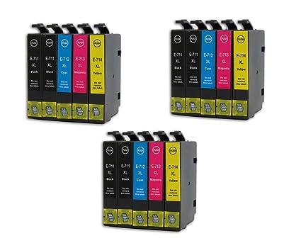 NlasBou - Cartuchos de tinta compatibles con Epson T0715/(T0711 ...