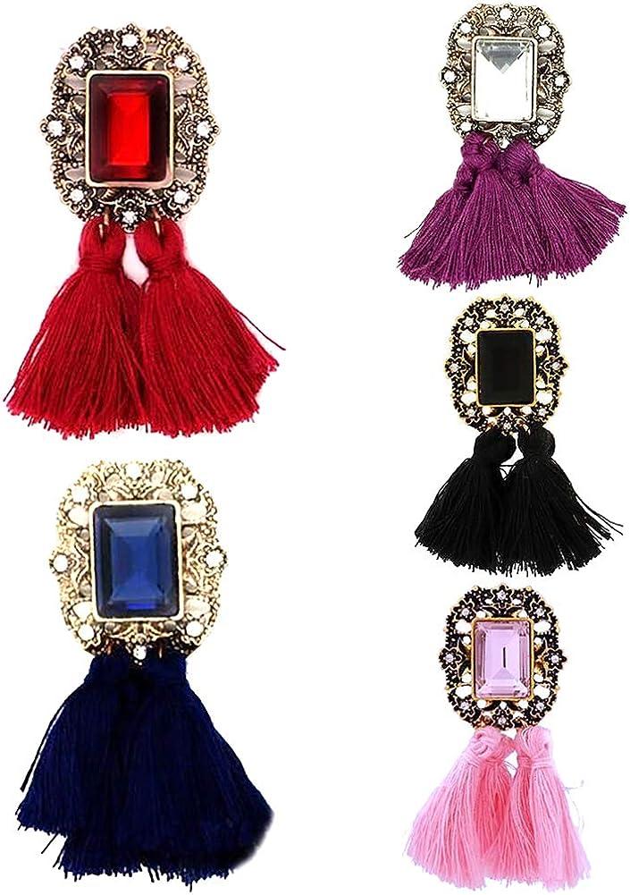 yibenwanligod Pendientes De Mujer, Pendientes De Perlas Cuadradas De Imitación De Piedras Preciosas Cuadradas Vintage Joyas Para Fiesta