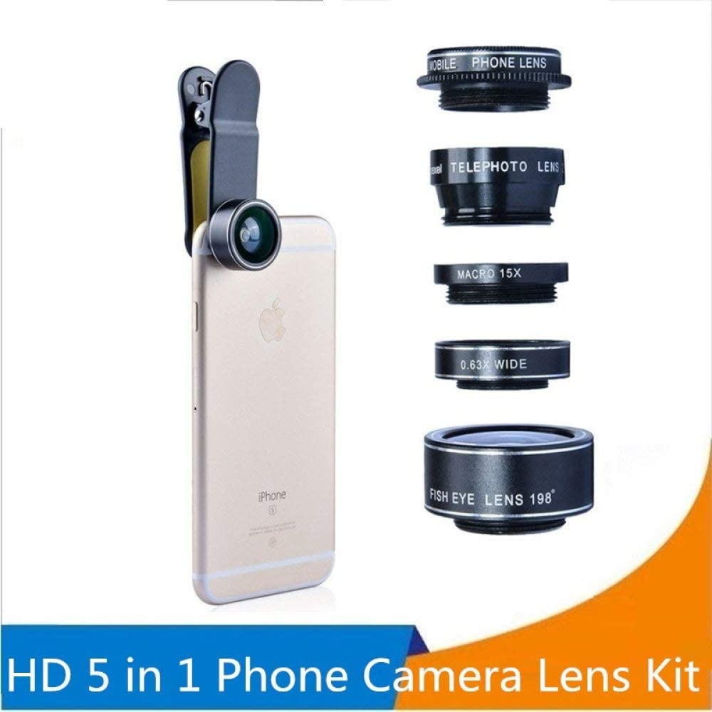 YHWWSJJT Reloj de Bolsillo Orsda HD Phone Camera Lens Kit 5 en 1 para iPhone 6 6s Plus Samsung Galaxy S8 S7 Edge para Xiaomi Redmi Note 4X Android Smartphone: Amazon.es: Electrónica