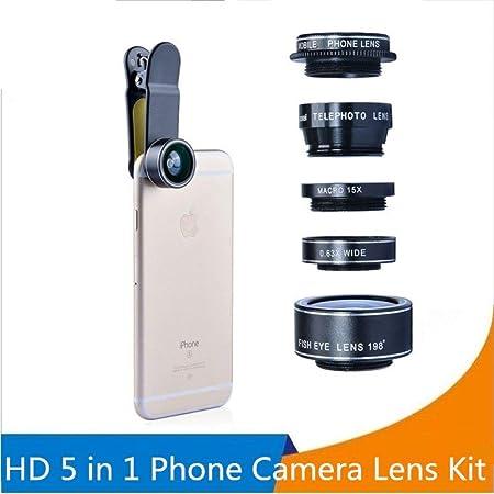 YHWWSJJT Reloj de Bolsillo Orsda HD Phone Camera Lens Kit 5 en 1 ...