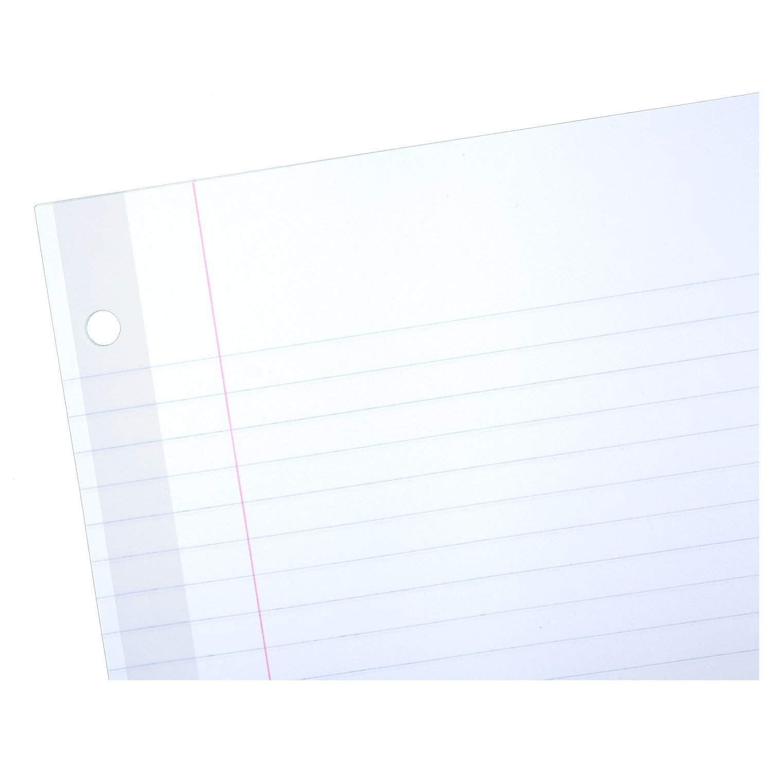 Mead Loose Leaf Paper, Filler Paper, Reinforced, College Ruled, 100 Sheets, 10-1/2'' x 8'', 3 Hole Punched, 3 Pack (38037) by Mead (Image #3)