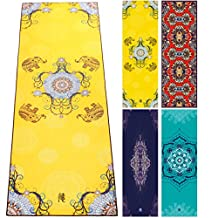 DYZD Yoga Towel Hot Yoga Towel 100% Microfiber Yoga Mat Towel With Free Spray Bottle, Exclusive Design, Perfect for Fitness, Travel, Camp, Hot Yoga - Non Slip and Ultra Absorbent