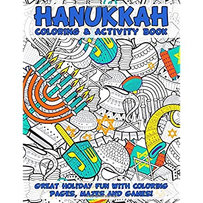 Hanukkah coloring and activity book