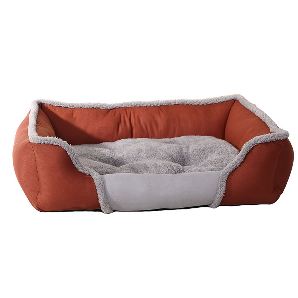 BROWN S BROWN S Pet Bed Pull Cloth Kennel Soft and Comfortable Waterproof Non-Slip Durable Pet Bed (color   Brown, Size   S)