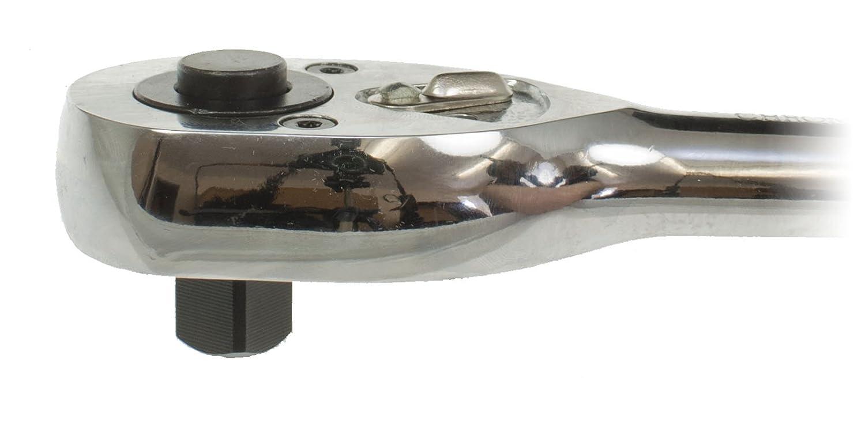 Toolzone 1//5,1/cm Profi Ratsche Push Button poliert Finish