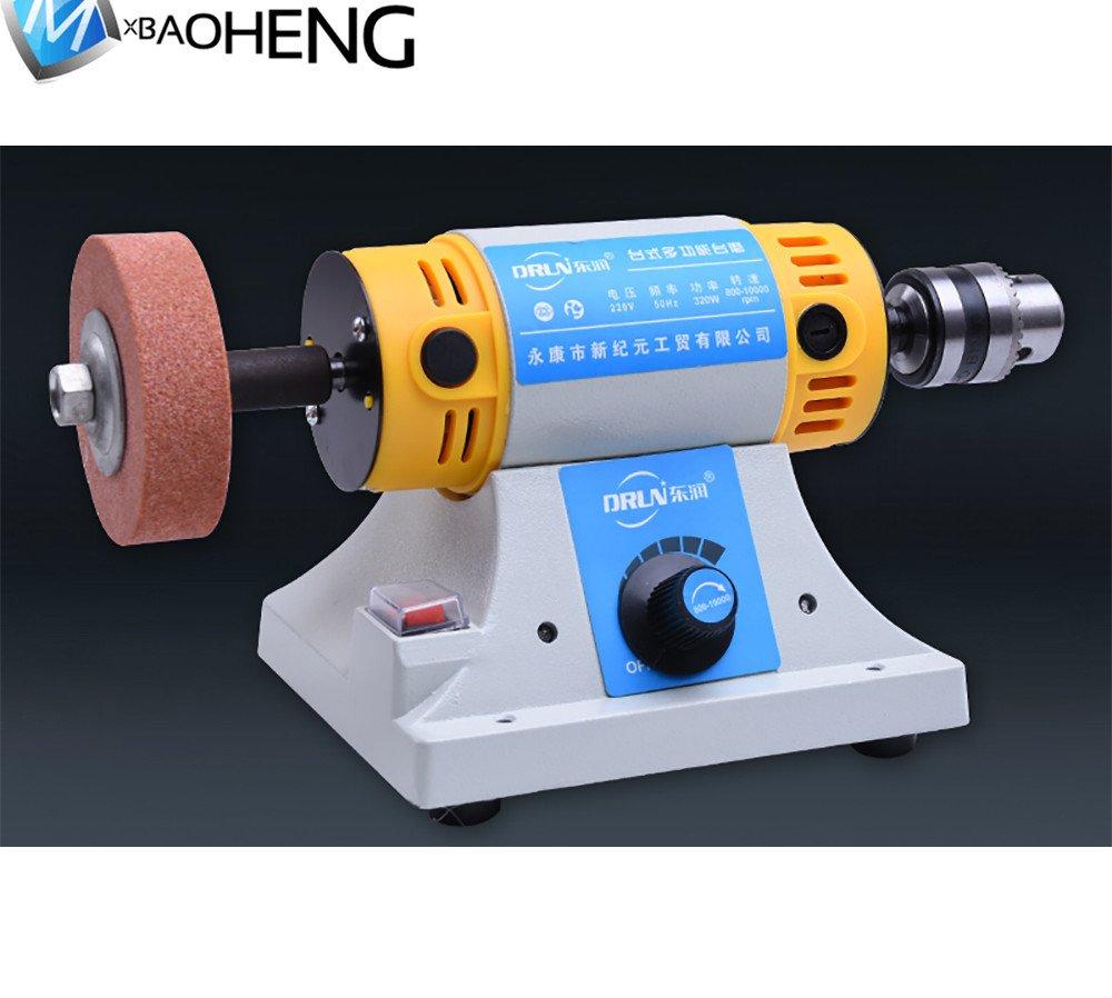 バフモーター 多機能小型卓上丸鋸盤 TM-2D 防塵フード バフモーターセット バフベンチグラインダー ポリッシャー精密研磨カービング研磨に最適 (110V) B07D3P356Q