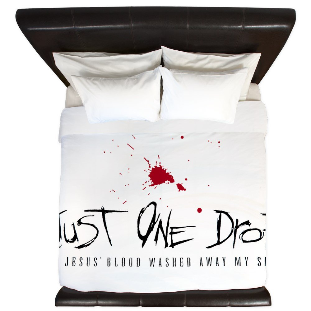 King Duvet Cover Just One Drop of Jesus Blood by Royal Lion