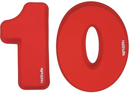 Gran número de silicona 10 Cake Molde de estaño décimo cumpleaños aniversario 1 0