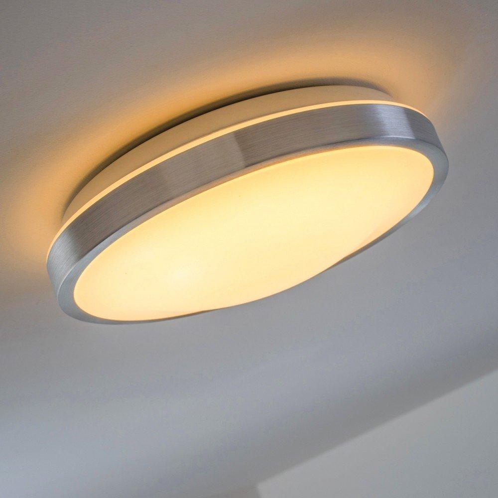 LED Deckenlampe Wutach rund - 900 Lumen 12 Watt LED warmweiss ...