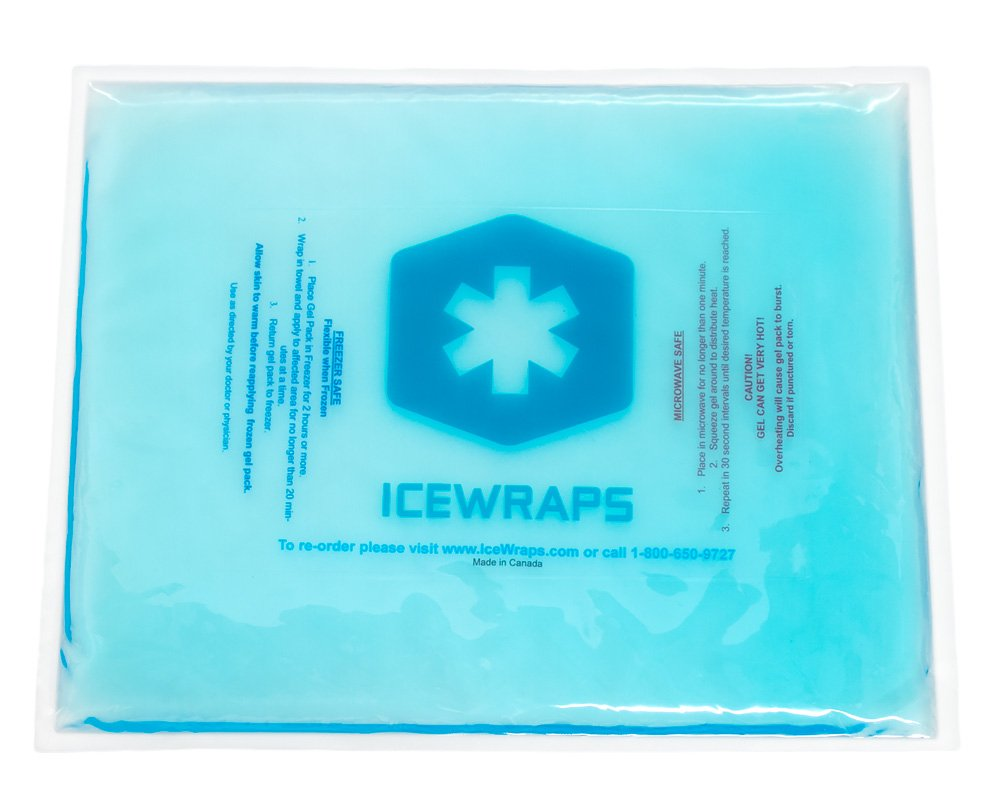 Blue 10x12 Gel Pack Reusable Large Ice Pack, Microwavable Hot Pack, Cooling Pad, Pain Relief First Aid by IceWraps