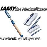 Lamy Schreiblernfüller ABC, Feder: A (blau, mit 10 Tintenpatronen)