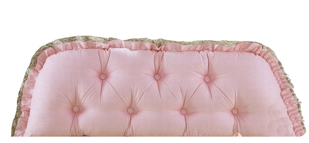 Stuffedウェッジクッションベッド背もたれlivebycareソファーBack PositioningサポートReading枕ホームオフィス腰椎パッド取り外し可能なコットンカバー 35(L)*18(H)*7.5(W) inch ピンク LC_IG_xne-shunvwuyuanjiao-100 B0752BN7YC 35(L)*18(H)*7.5(W) inch|Floral-pink Dots Floral-pink Dots 35(L)*18(H)*7.5(W) inch