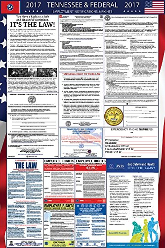 2017 Tennessee and Federal Labor Law Poster Laminated