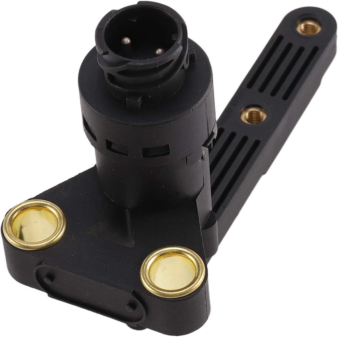 Semoic Capteur de hauteur de voiture en ABS durable Capteur de niveau de phare pour camion DAF 4410501000 5010422344 1365935 1934584 OE-RE213 Noir