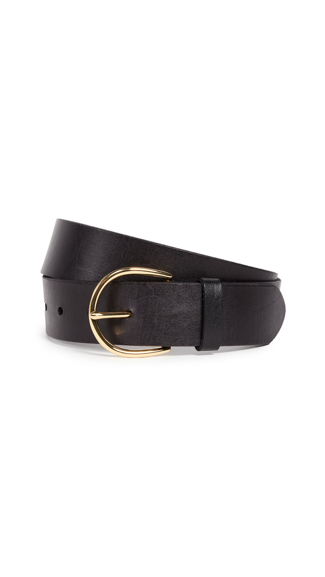 FRAME Women's U-Buckle Belt, Noir, Medium