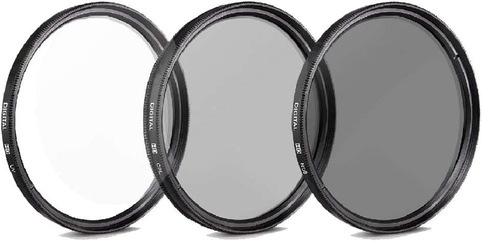 UV CPL ND8 Filters and More For All Canon Digital Cameras Canon EF-S 18-55mm III f3.5-5.6 Camera Lens with Tulip Lens Hood