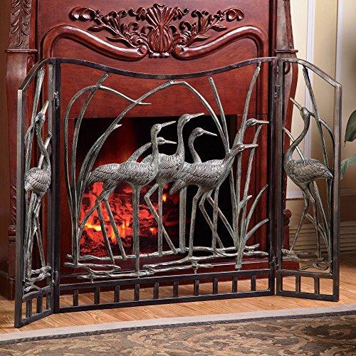 - SPI Home Crane Flock Aluminum Fireplace Screen