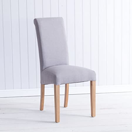 The Furniture Outlet Silla de Comedor tapizada de Tela Color ...