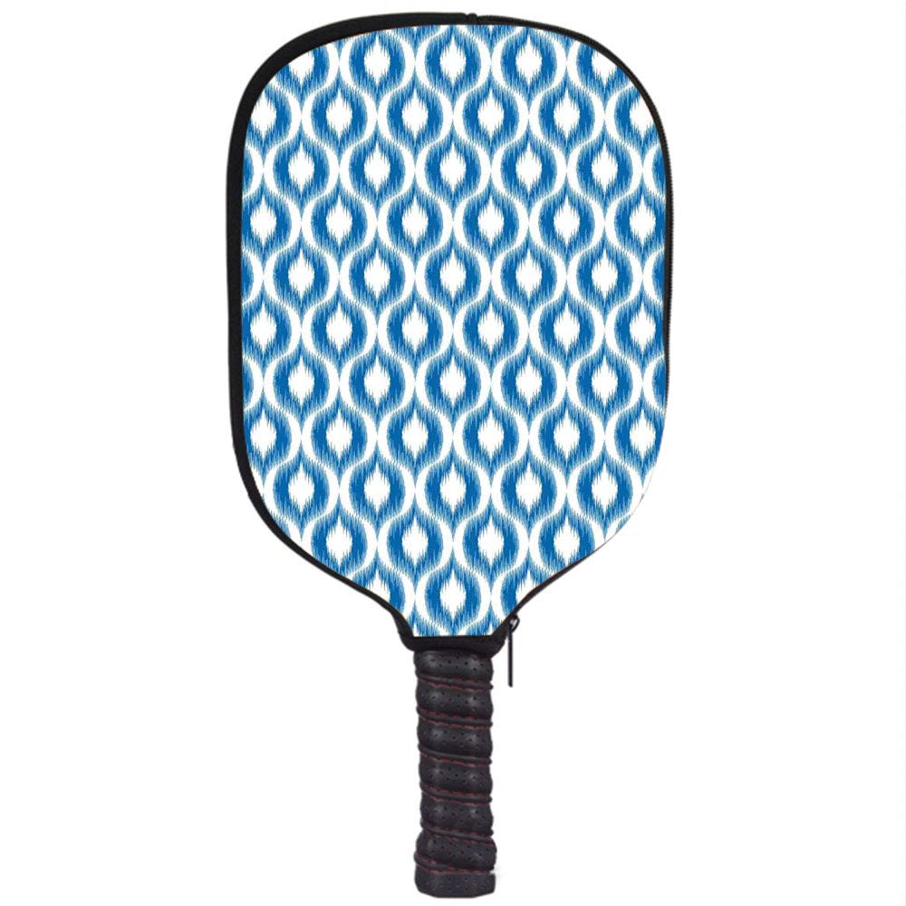 Amazon.com : Neoprene Pickleball Paddle Racket Cover Case, Ikat Decor, Damask Ikat Style Ethnic Pattern Ethnic Elegant Vintage Mesh Motifs and Shapes ...