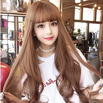 Amazon Com Korea Korean Big Wavy Hair Wig Fre Of Long