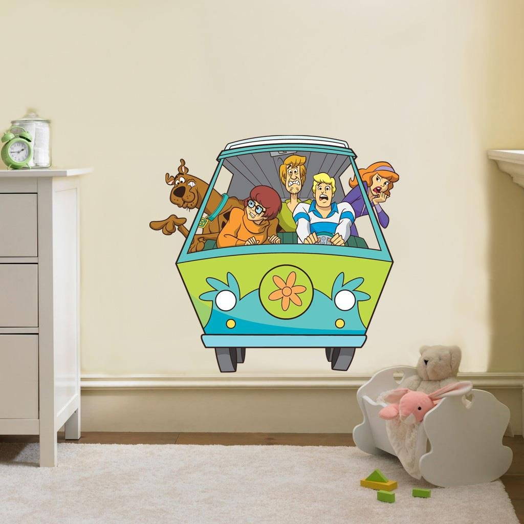 Scooby Doo Bedroom Accessories Amazoncom Scooby Doo Mystery Machine Van Decal Removable Wall