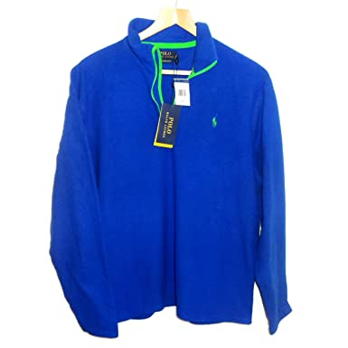 dfbbd0f17 Ralph Lauren New Genuine Mens Performance Half Zip Fleece Jacket - Sapphire  Blue (Large)  Amazon.co.uk  Clothing
