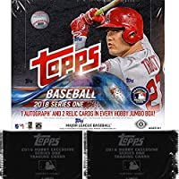 2018 Topps Series 1 MLB Baseball JUMBO box (10 pk) + TWO EXCLUSIVE BONUS PACKS!
