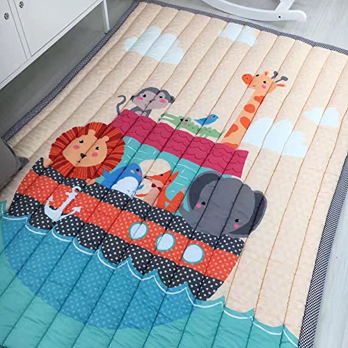IHEARTYOU Thick Cotton Baby Crawling Mat Cute Giraffe Play Carpet Children Bedroom Decor Living Room Rugs