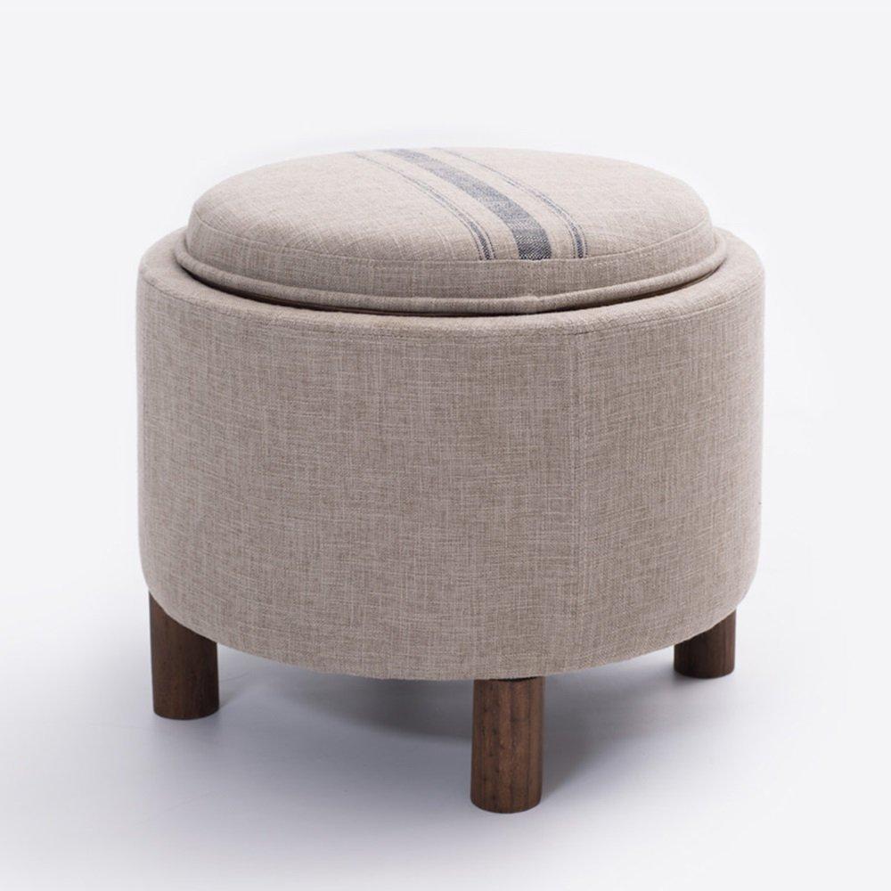 DIDIDD Sofa stool- solid wood storage sofa stool tea table stool cloth for shoe stool storage stool multi-functional simple bed stool (color optional) --storage stool,A