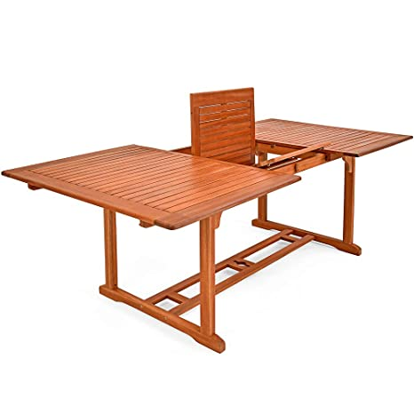 Table Unikko En Bois Deucalyptus Extensible 200x100cm