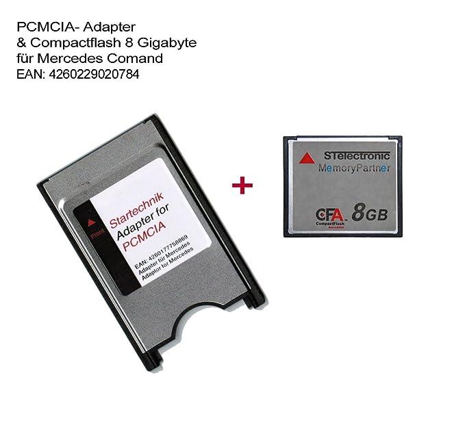 Amazon.com: Compact Flash Card adaptador PCMCIA con tarjeta ...