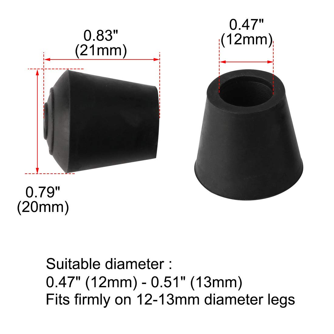 uxcell 9pcs Chair Leg Tips Caps 32mm 1 1//4 Inch Anti Slip Rubber Furniture Table Feet Cover Floor Protector Reduce Noise Prevent Scratch