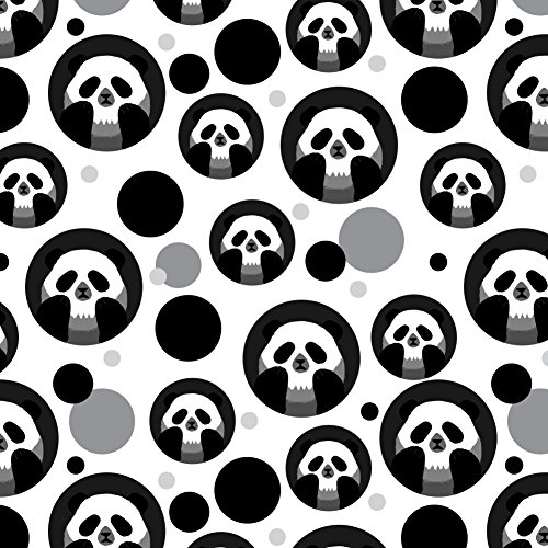 GRAPHICS & MORE Panda Skull Optical Illusion Spooky Premium Gift Wrap Wrapping Paper -