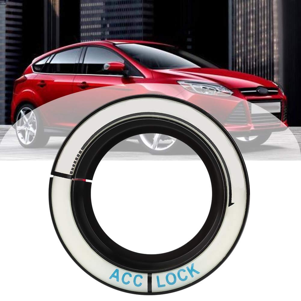 Car LuminousCircle Key Hole Ignition Switch Ring Cover Trim for Focus 2005-2018 Red Suuonee Ignition Switch Trim