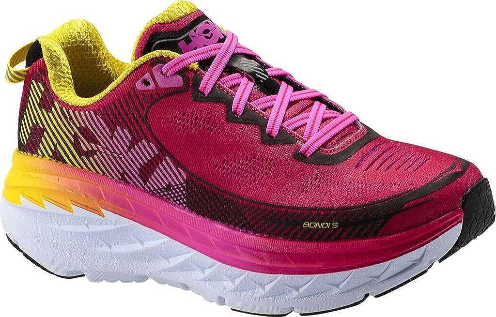 - HOKA ONE ONE Wohommes Bondi 5 Road Running chaussures,Virtual rose Blazing jaune,US 5