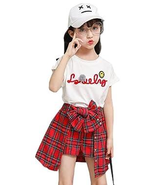 eb621b6fb3865 子供服 女の子 ガールズ上下セット服 子供上下セット服 半袖Tシャツ上着