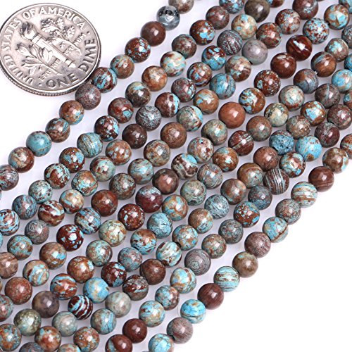 (GEM-inside Blue Crazy Lace Agate Gemstone Loose Beads Natural Energy Power Beads For Jewelry Making 4mm Round Smooth 15)