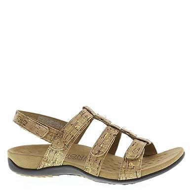5a1a7110fa5a Vionic Amber - Womens Slide Sandal - Orthaheel Gold Cork - 11 Wide UK Size    9  Amazon.co.uk  Clothing
