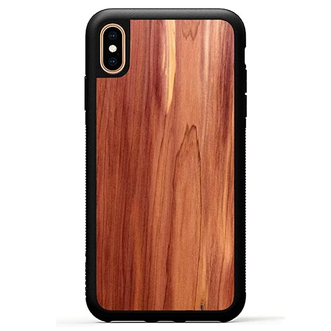 new product 7ae48 1dfab Carved | iPhone Xs Max | Luxury Protective Traveler Case | Unique Real  Wooden Phone Cover | Rubber Bumper | Eastern Red Cedar