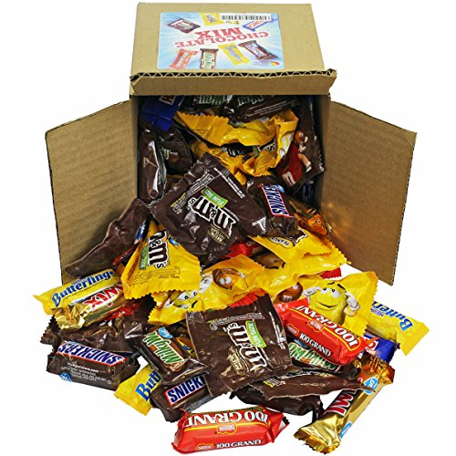 Chocolate Variety Pack - Fun Size Candy - All Your Favorite Chocolate Bars Including M&M, Snickers, Twix and More In 6x6x6 Bulk Box, 3.2 LB