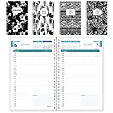 "Brownline 2018-2019 Black & White Design Daily Academic Planner, 8x5"", Day Per Page, August to July, Design May Vary, English (CA201PG.ASX-2019)"