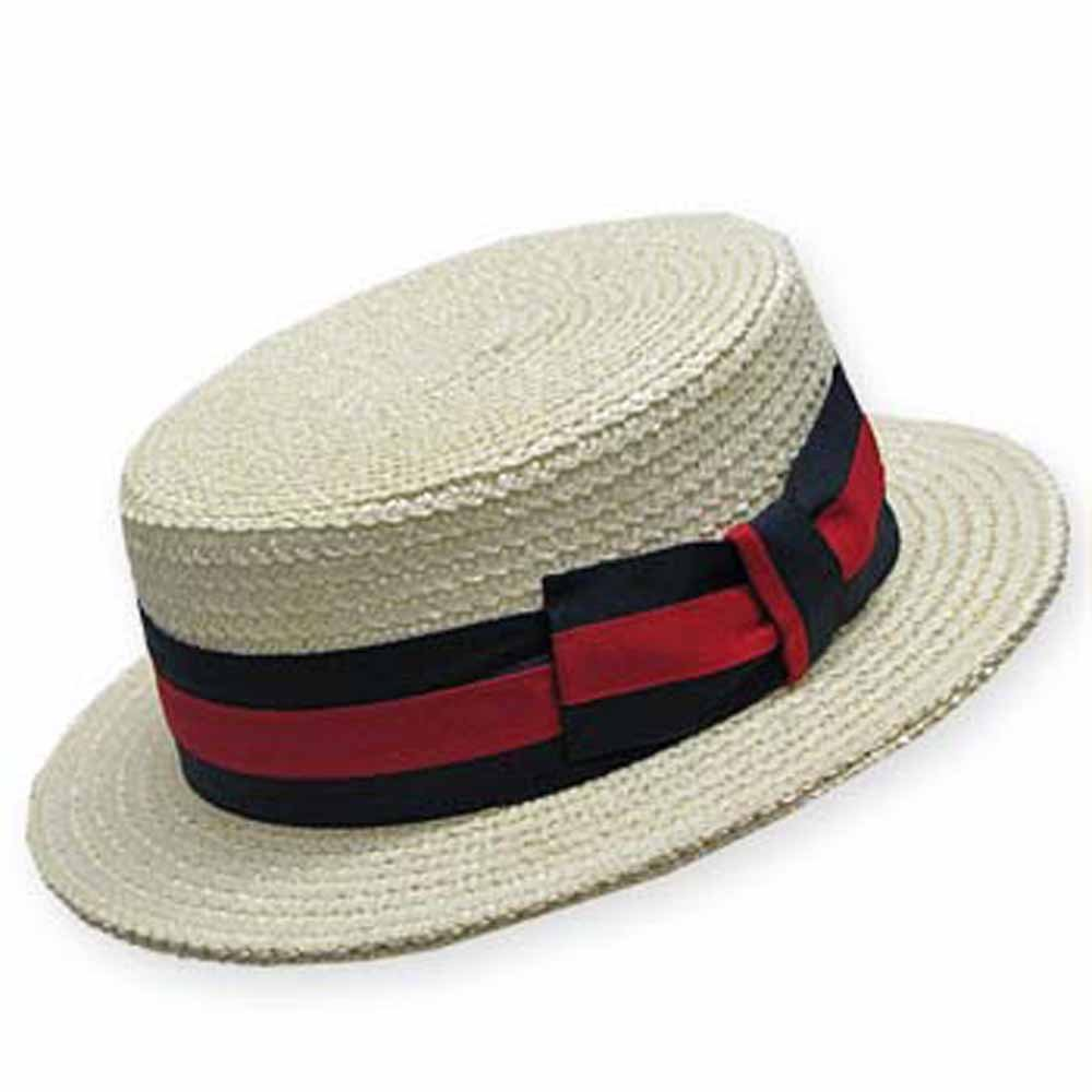 CLASSIC BOATER Bleach SKIMMER Straw Hat Men s at Amazon Men s Clothing  store  5b4a2b9da121