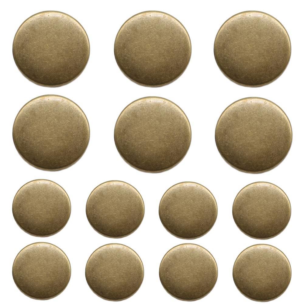 Suits MB20160 ByaHoGa 14 Pieces Antique Metal Blazer Buttons Set for Blazers Sport Coat Uniform Jackets