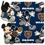 disney chicago bears - Officially Licensed NFL Chicago Bears Co-Branded Disney's Mickey Hugger and Fleece Throw Blanket Set