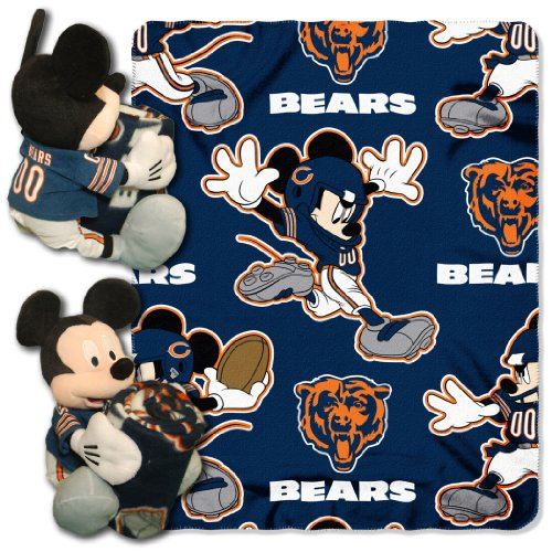 The Northwest Company Officially Licensed NFL Chicago Bears Co Disney's Mickey Hugger and Fleece Throw Blanket Set