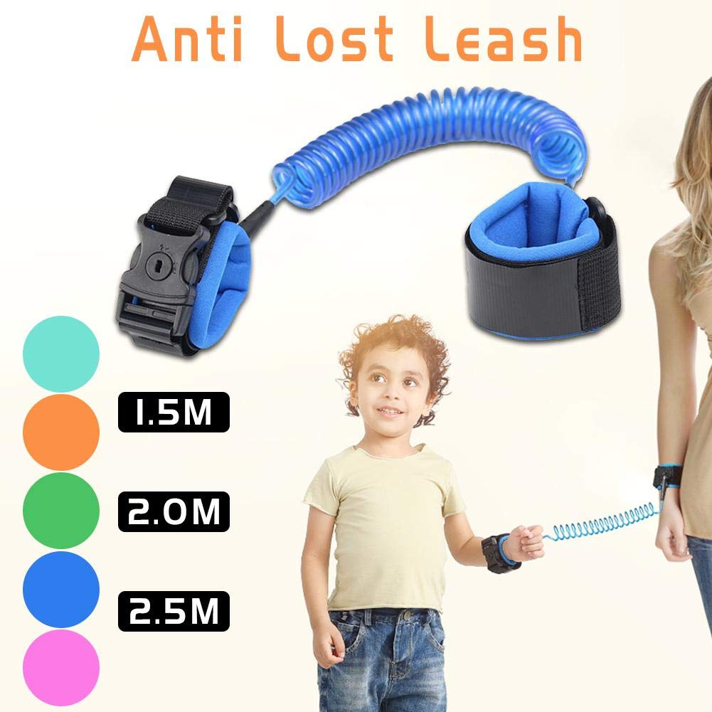 1.5M Rejoicing Bracelet de s/écurit/é pour b/éb/é avec serrures et Cordon de Traction Anti-Perte pour Enfant Rose