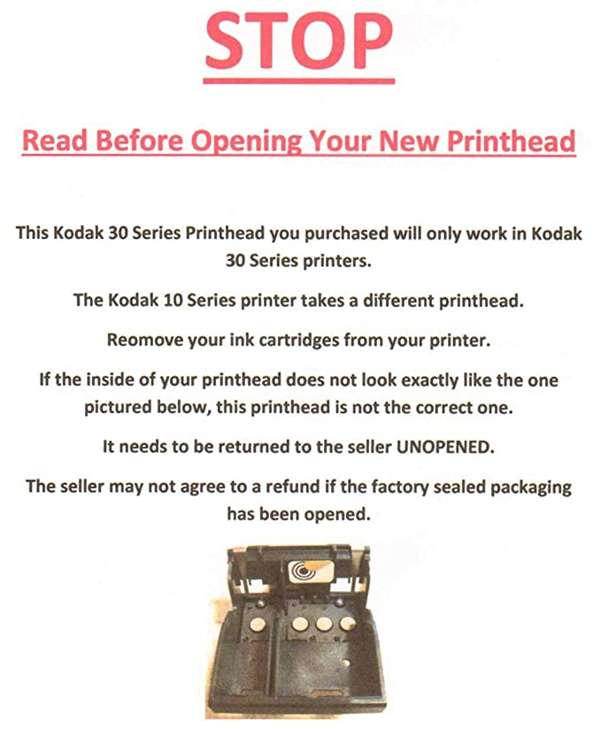 Kodak 30 Original Brand New Printhead for ESP 2150, ESP 2170, ESP 3 2, ESP  C310, ESP C315, Hero 3 1, Hero 5 1 Printers